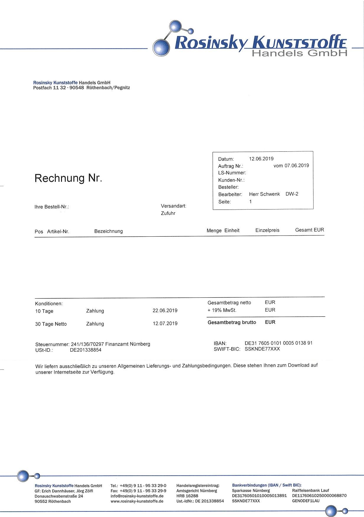 Rechnungsform
